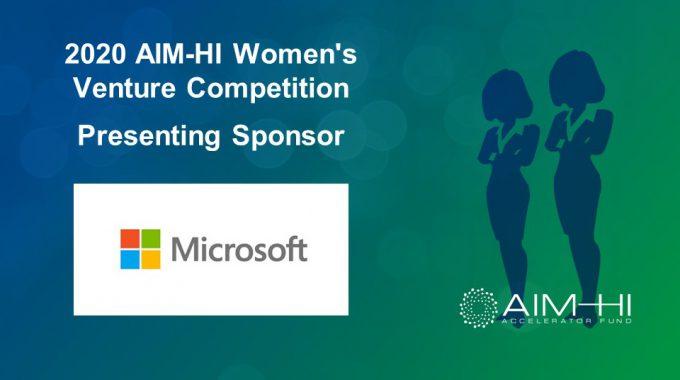 AIM-HI Women's Venture Competition Sponsor: Microsoft