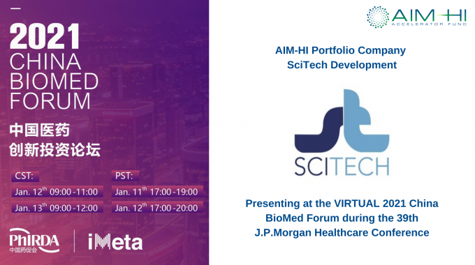 SciTech Development Presenting at the 2021 China BioMed Forum during the 39th J.P. Morgan Healthcare Conference